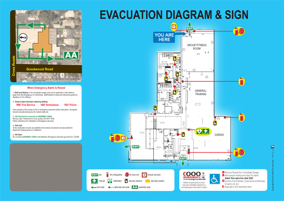 Evacuation Diagram example 1